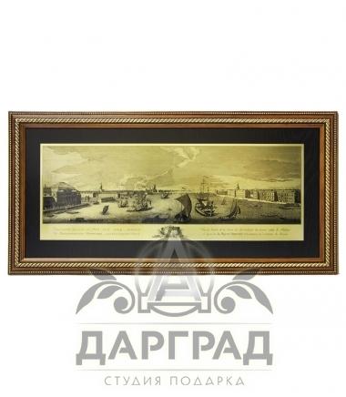 """Гравюра на металле """"Панорама Санкт-Петербурга"""" купить в подарок"""