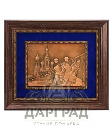 Купить подарок для интерьера Рельефное панно «Грифоны Петербурга»