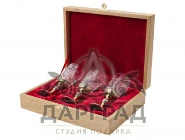 Заказать Набор из 3-х хрустальных рюмок (Златоуст) в магазине подарков Дарград