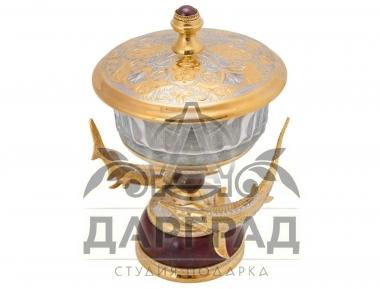 Подарочная икорница златоуст в подарочном коробе