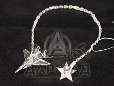 серебряный Ионизатор для воды «Военный самолет»
