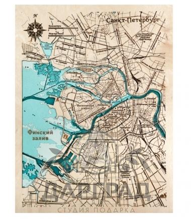 Объемное панно «Карта Санкт-Петербура»