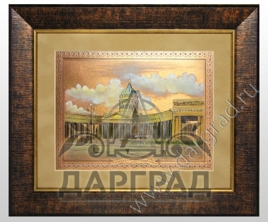 Гравюра не металле Казанский собор