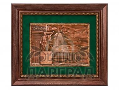 Заказать деловой подарок Рельефное панно «Казансий собор» с доставкой по СПб