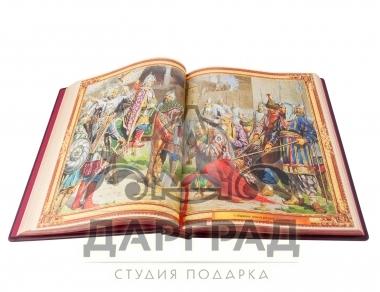 Подарочное издание «Великая Россия» оформление в коже