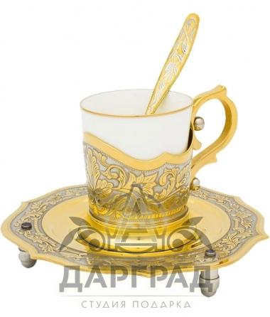 Кофейная пара «Золотые узоры» (Златоуст)