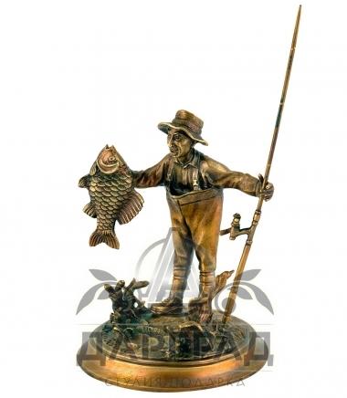 Авторская статуэтка из бронзы Рыбак