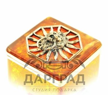Заказать Коробочка для чая из янтаря «Цезарь» в интернет магазине Дарград