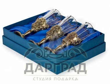 Заказать Набор лафитников «Герб РФ» с доставкой