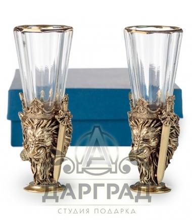 Набор лафитников Лев в подарочной коробке Дарград