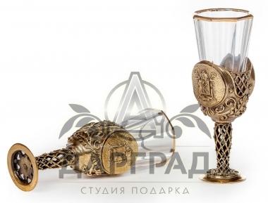 Набор из 2-х лафитных стопок «Герб Петербурга»