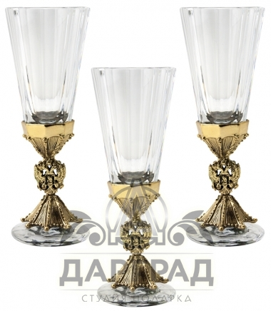 Купить Набор из 3-х лафитников «Герб России» в магазине подарков Дарград