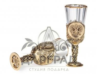 лафитники латунь герб РФ