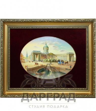 Купиь эксклюзивный подарок Лаковая миниатюра панно «Казанский собор» в СПб