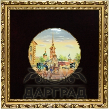 Купить подарок директору Лаковое панно «Петропавловская крепость»