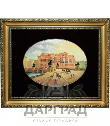 Купить Лаковая миниатюра «Вид на Аничков Мост» в магазине подарков Дарград