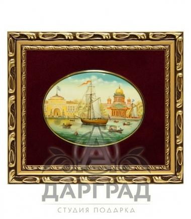 Купить Лаковая миниатюра «Адмиралтейство» эксклюзивный бизнес подарок