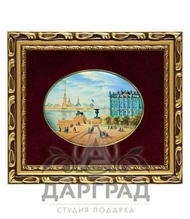 Купить Лаковая миниатюра «Дворцовая набережная» в магазине подарков дарград