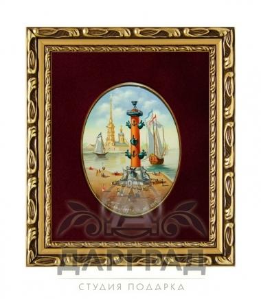 Купить деловой подарок Лаковая миниатюра «Ростральная колонна»