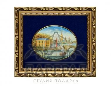 Бизнес подарок Лаковая миниатюра «Летний дворец Петра» в Санкт-Петербурге