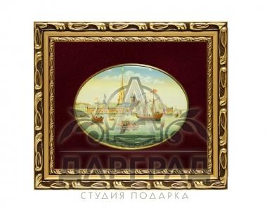 Лаковая миниатюра «Петропавловская крепость»