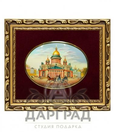 Купить в подарок Лаковая миниатюра «Исаакиевский собор» в магазине Дарград