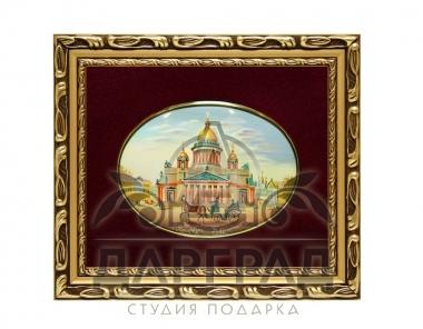 Заказать бизнес подарок Лаковая миниатюра «Исаакиевский собор»