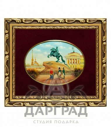 Деловой подарок партнеру Лаковая миниатюра «Медный всадник»