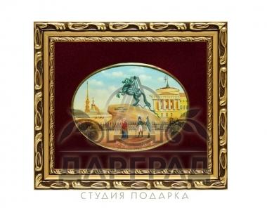 авторский подарок в СПб Лаковая миниатюра «Медный всадник»