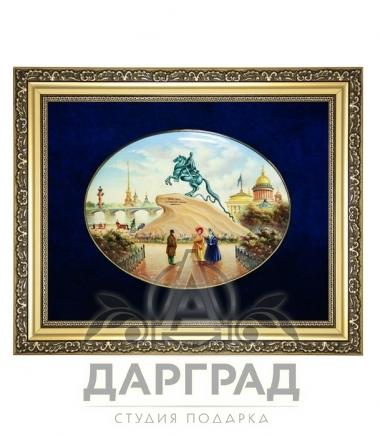 """Купить Лаковая миниатюра """"Монумент Петру I"""" в магазине подарков Дарград"""
