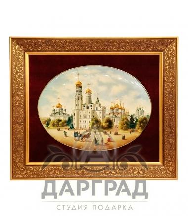 Лаковое панно «Кремль» с изображением соборов