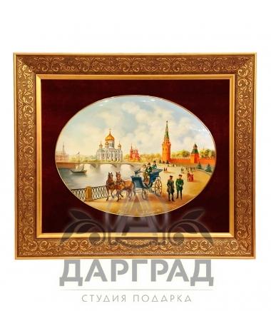 Лаковое панно «Москва» ПРЕМИУМ подарок эксклюзивный