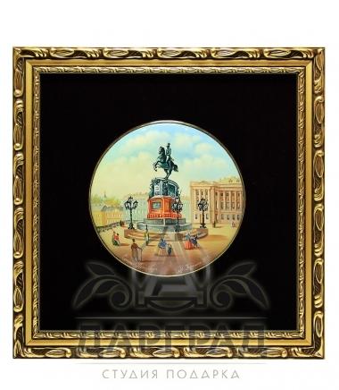 Лаковое панно «Памятник Николаю Первому» (среднее)