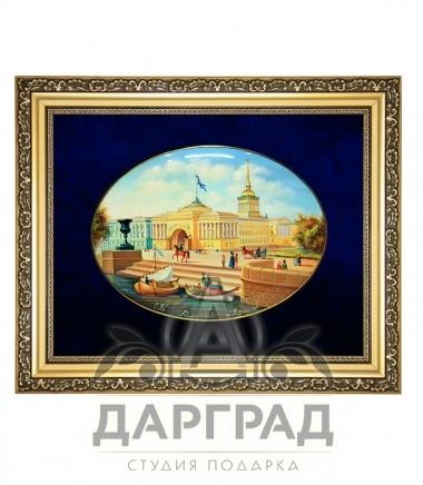 Купить эксклюзивный подарок Лаковая миниатюра панно «Адмиралтейство»