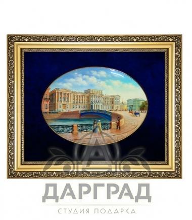 Купить Лаковая миниатюра панно «Мариинский дворец» эксклюзивный подарок из СПб