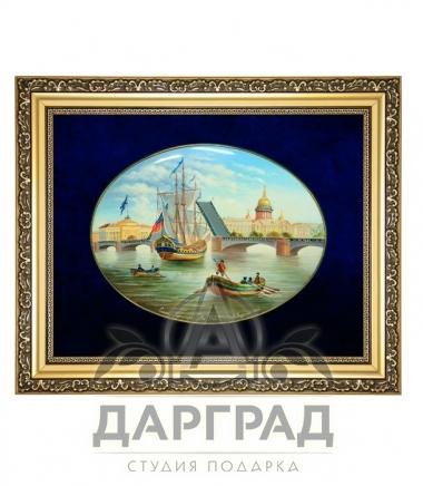 Купить Лаковая миниатюра панно «Дворцовый мост» в подарок директору