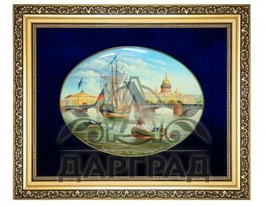 Заказать Лаковая миниатюра панно «Дворцовый мост» в магазине подарков