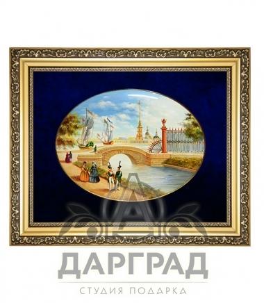 Подарок гостю города Лаковая миниатюра панно «Летний сад»