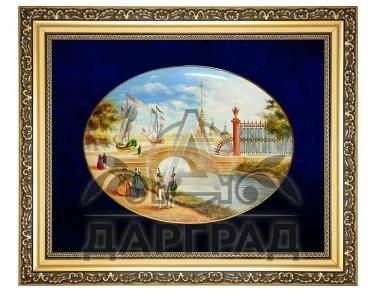 Дорогой бизнес подарок Лаковая миниатюра панно «Летний сад»