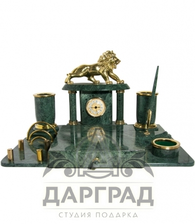 Купить Письменный набор из мрамора «Лев» в магазине подарков