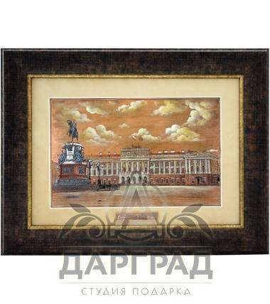 Купить Гравюра на металле «Мариинский дворец» в магазине подарков Дарград