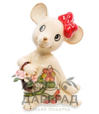 новогодняя фигурка мышка с бантиком