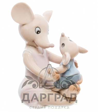 фарфоровая Фигурка Мышонок с мамой