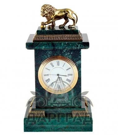 Настольные часы «Лев» мрамор