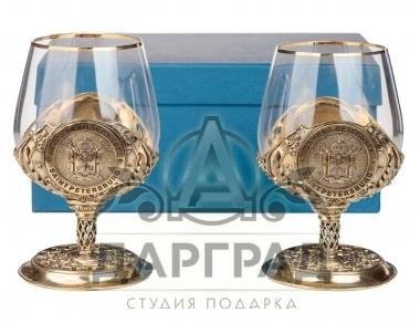 Подарок с символикой СПб Набор из 2-х бокалов «Санкт-Петербург»