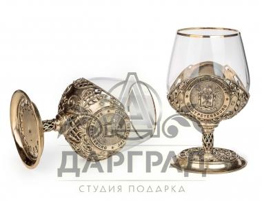 Купить подарок руководителю Набор из 2-х бокалов «Санкт-Петербург» в магазине Дарград