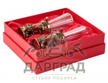 Подарок мед работнику Набор из 2-х лафитников «Доктор»