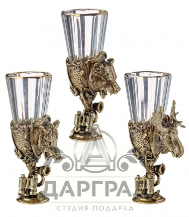 Набор из 3-х лафитников «Трофеи охотника»