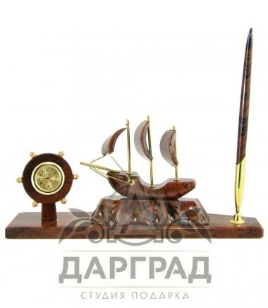 Настольный прибор «Парусник» (малый)