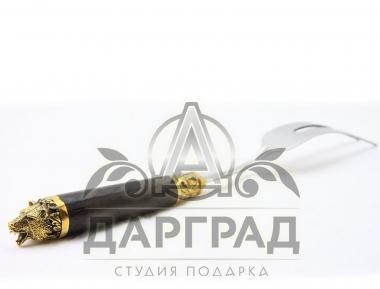 Вилка для мяса медведь Подарочный набор «Русская рыбалка»